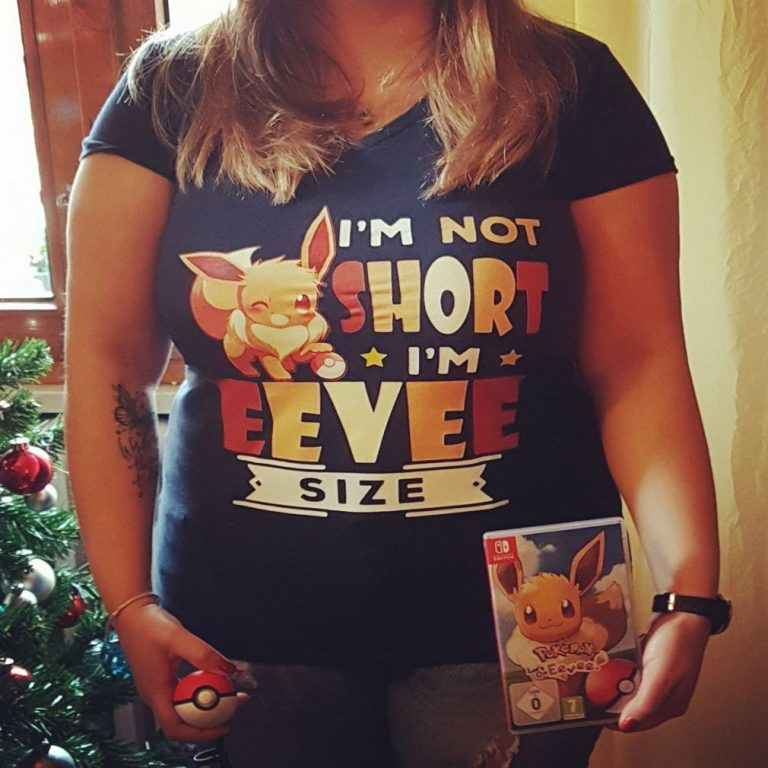 Im Not Short Im Eevee Size Pokemon Shirts Size Up To 5xl photo review