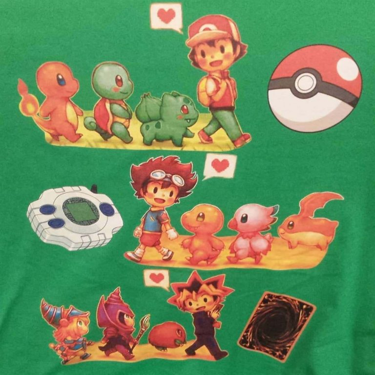 Pokemon Digimon Yugioh Starters Childhood Memory Shirts Plus Size Up To 5xl photo review