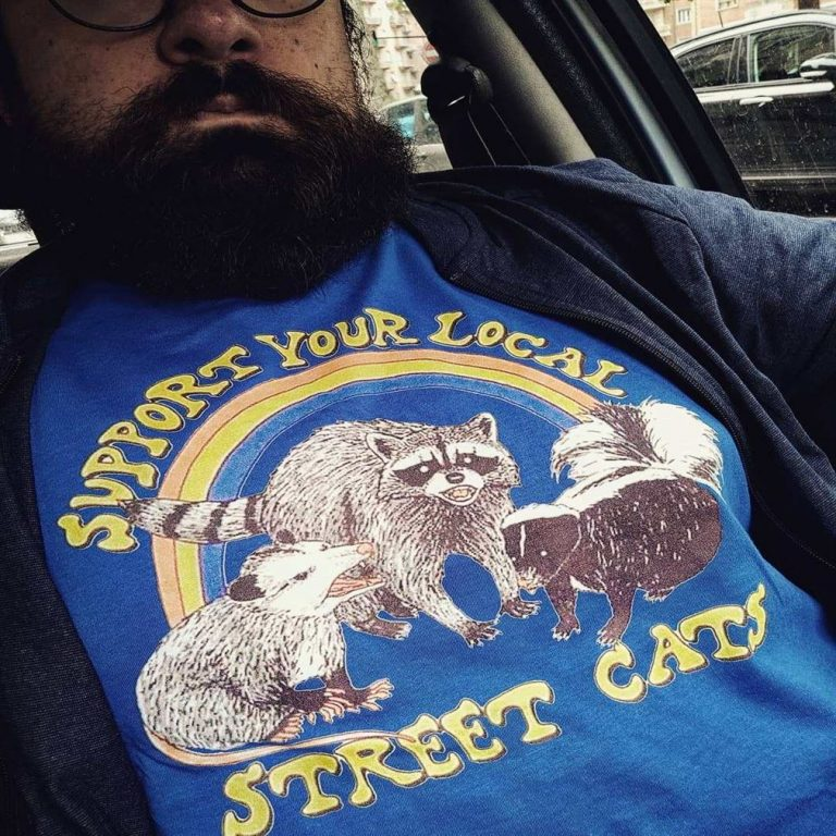 Support Your Local Street Cats Trash Panda Skunk Wild Animal Shirts Full Size Up To 5xl photo review