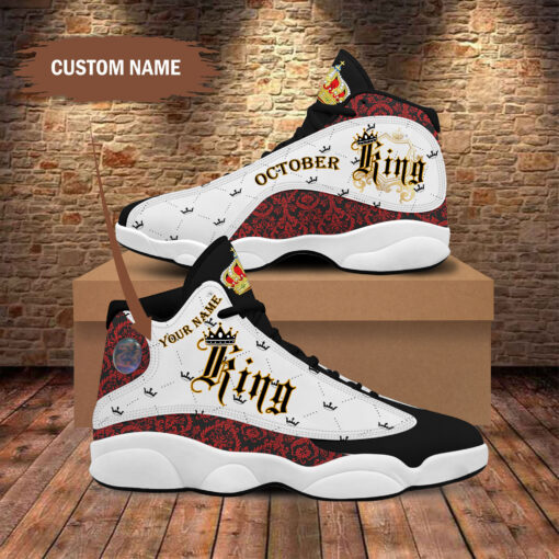 Birthday October King Jordan 13 Shoes Personalized Sneaker Sport