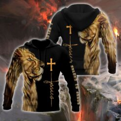 Lion belong to Jesus Over Printed Hoodie