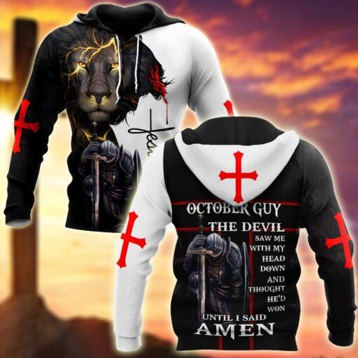October Tshirt- Untill I Said Amen 3D All Over Printed Shirts For Men
