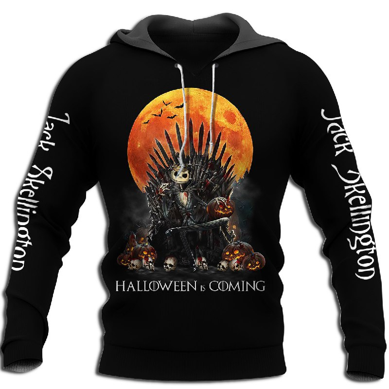 Jack Skellington Halloween Is Coming Hoodie Size Up To 5xl