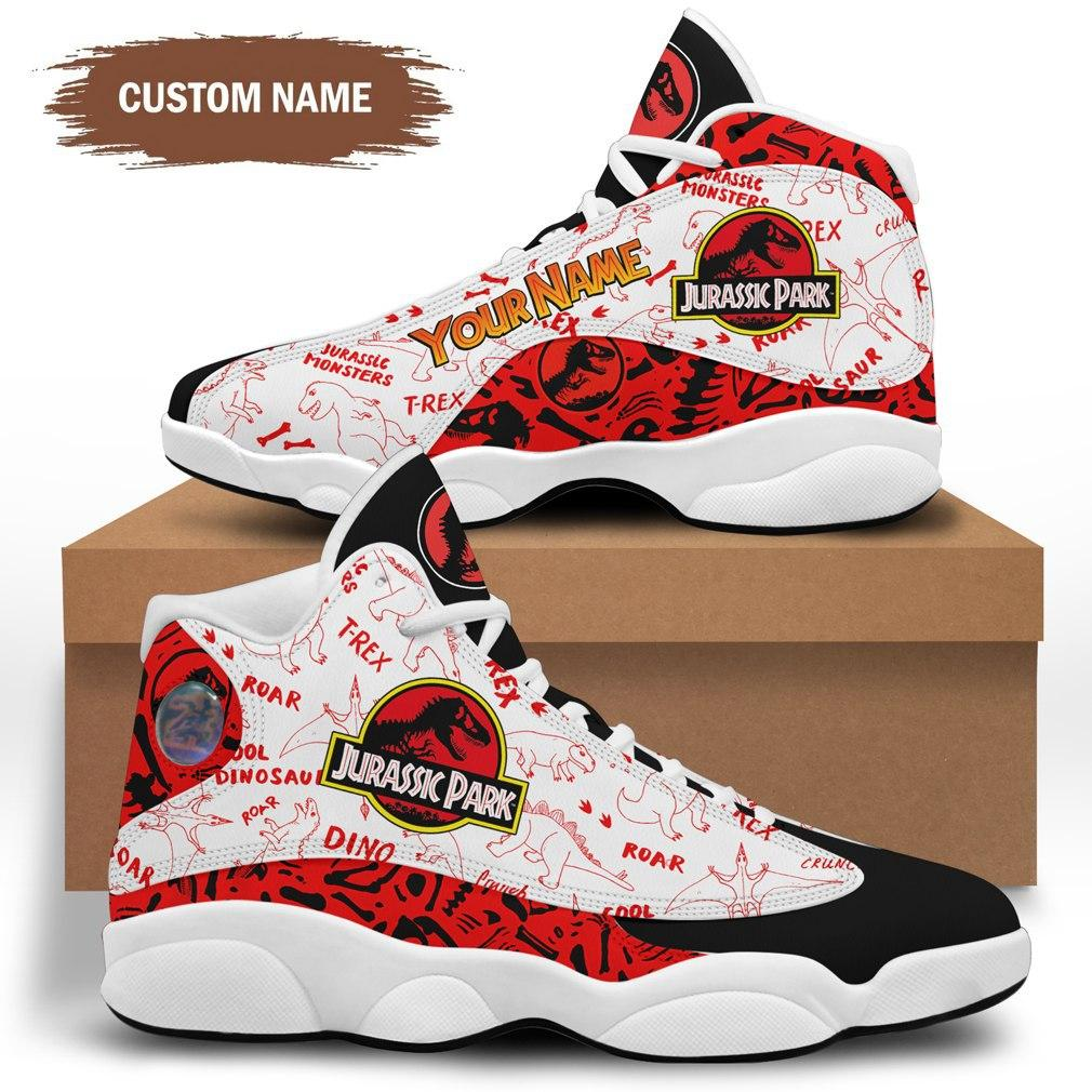Jurassic Park JD 13 Shoes Personalized Birthday Sneakers