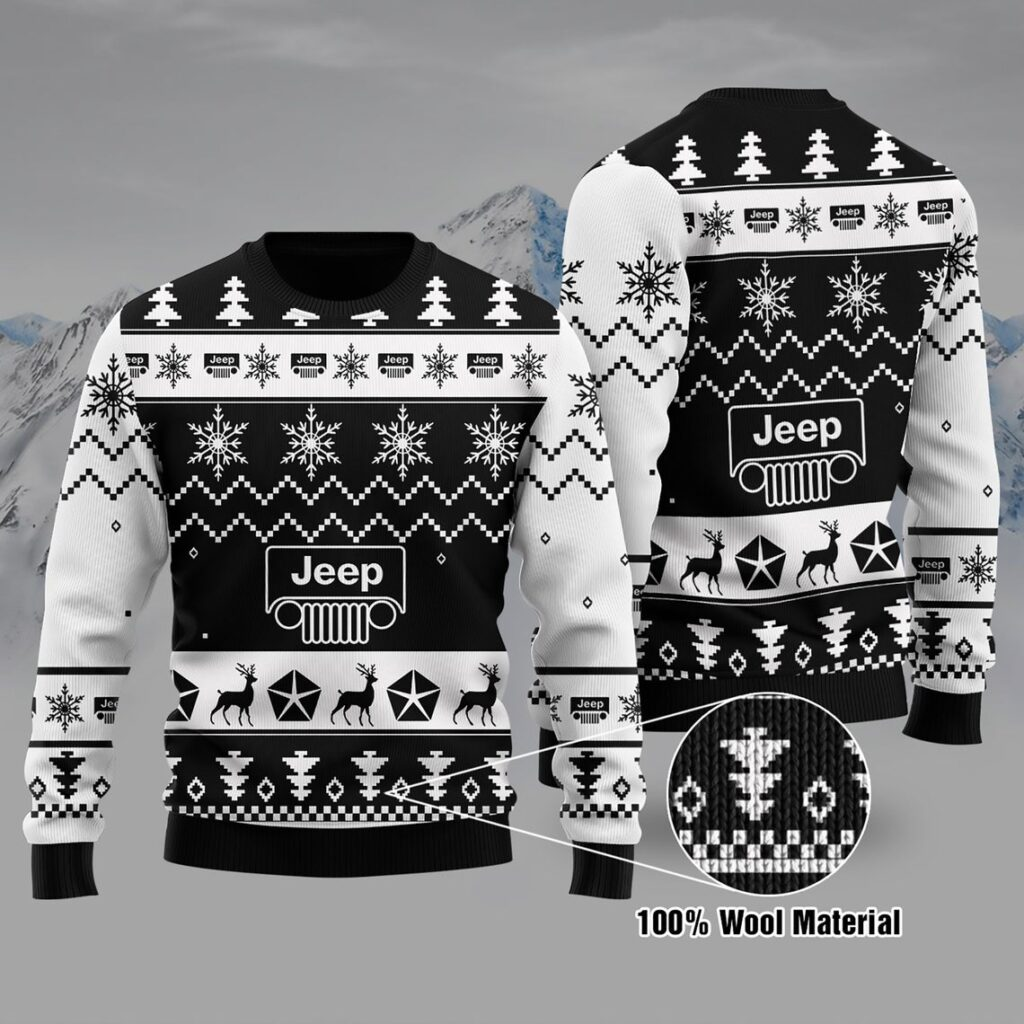 Jeep Sweater, Jeep Ugly Christmas Sweater 100% Wool Material , Jeep Lover , Jeep Girl , Christmas Gift