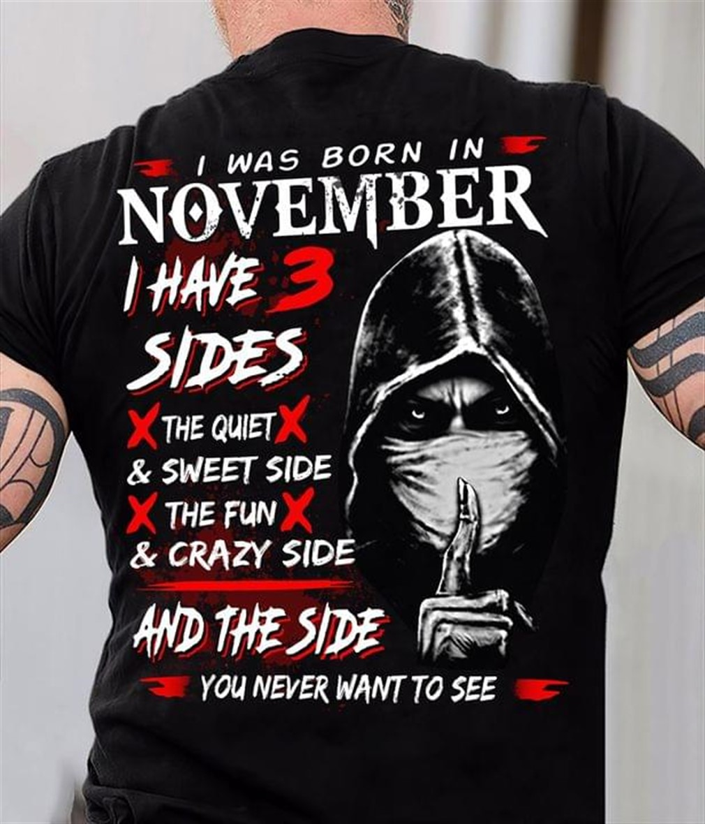 I Was Born In November I Have Three Sides