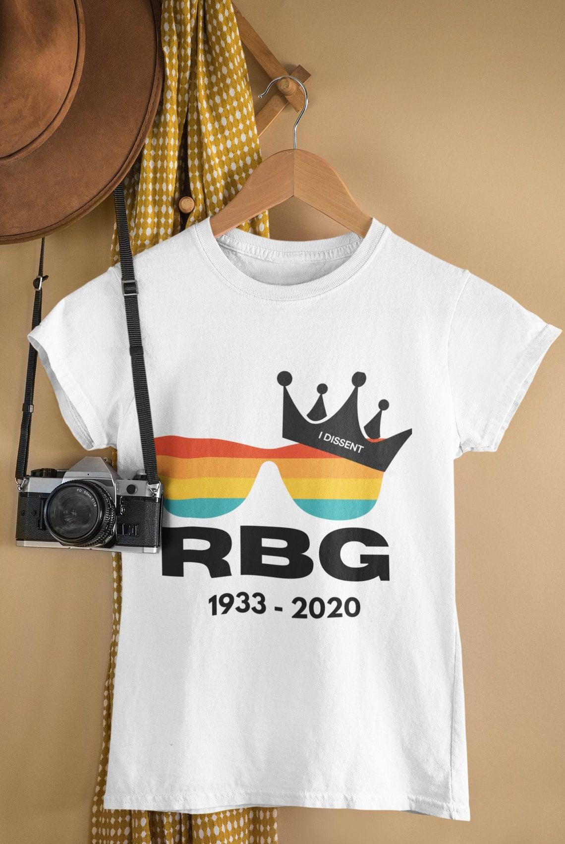 I Dissent Rip Ruth Bader Ginsburg T Shirt  Notorious Rbg 1933 2020 Shirt