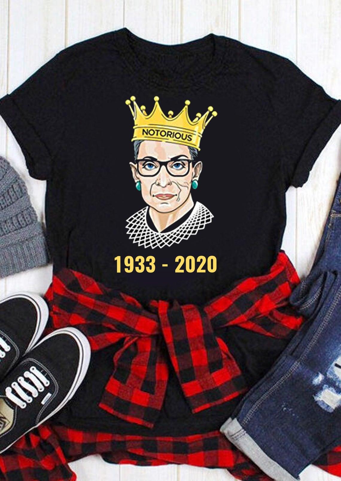 Rbg Rip Ruth Bader Ginsburg 1933-2020 Shirt