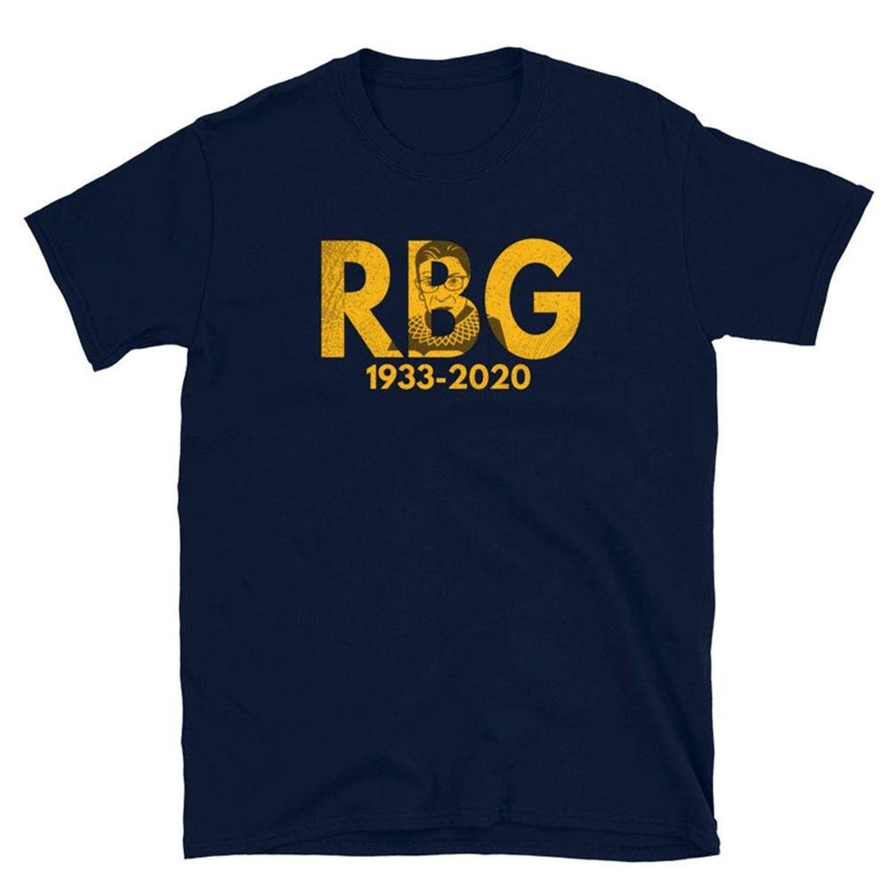 Ruth Bader Ginsburg T Shirt Rip Ruth Bader Ginsburn 1933-2020