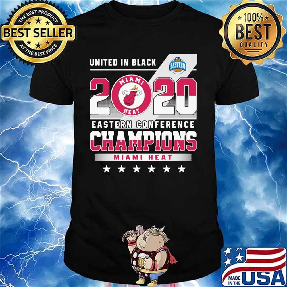 United In Black 2020 Eastern Conference Champions Miami Heat Stars Shirt