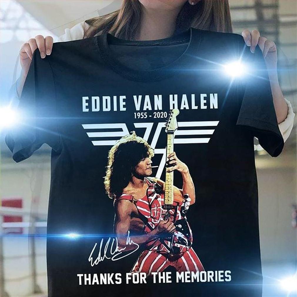 Eddie Van Halen 1955 2020 Thank You For The Memories Signature Shirt