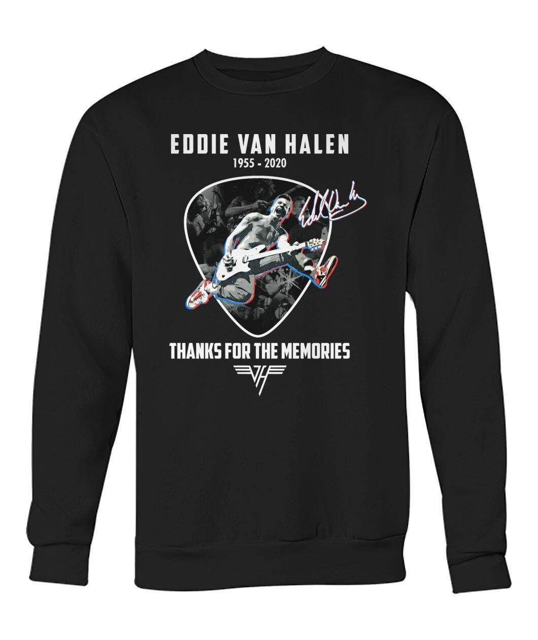Eddie Van Halen Shirt 1955 2020 Thank You The Memories