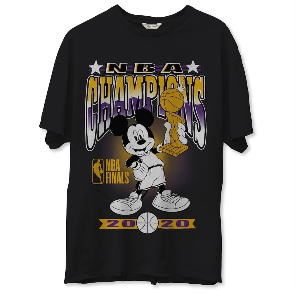 Los Angeles Lakers Junk Food 2020 Nba Finals Champions Mickey Trophy T-shirt