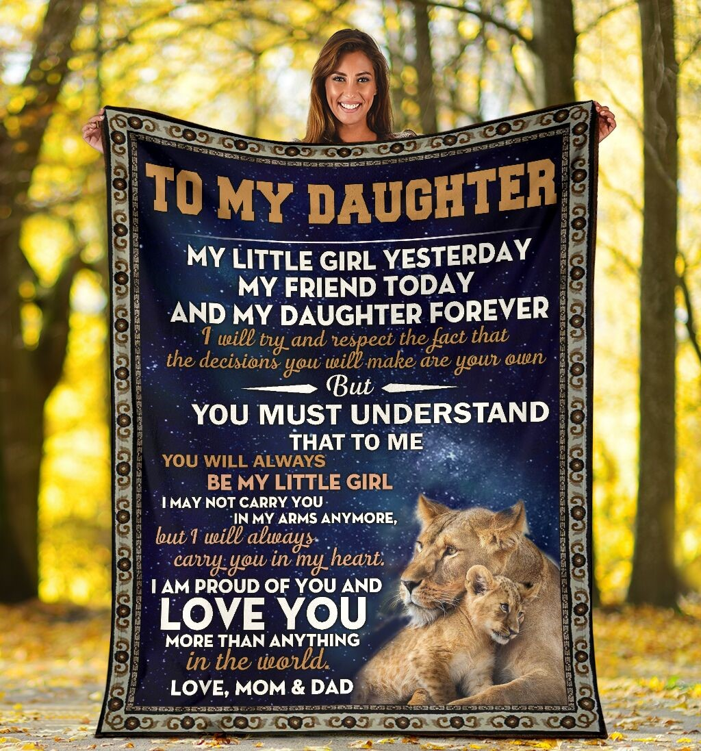 To My Daughter Love Mom And Dad