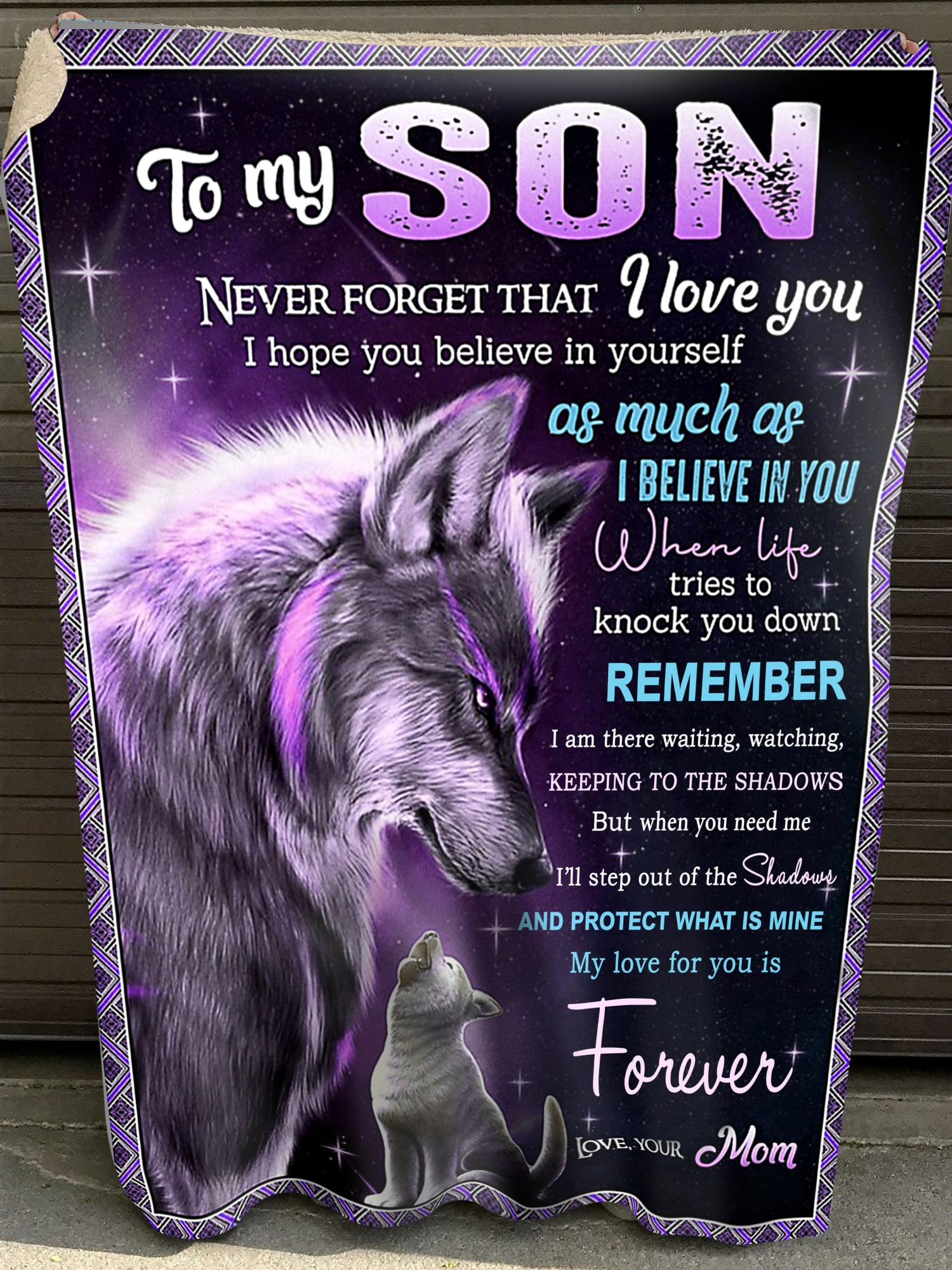 To My Son Blanket Forever Mom