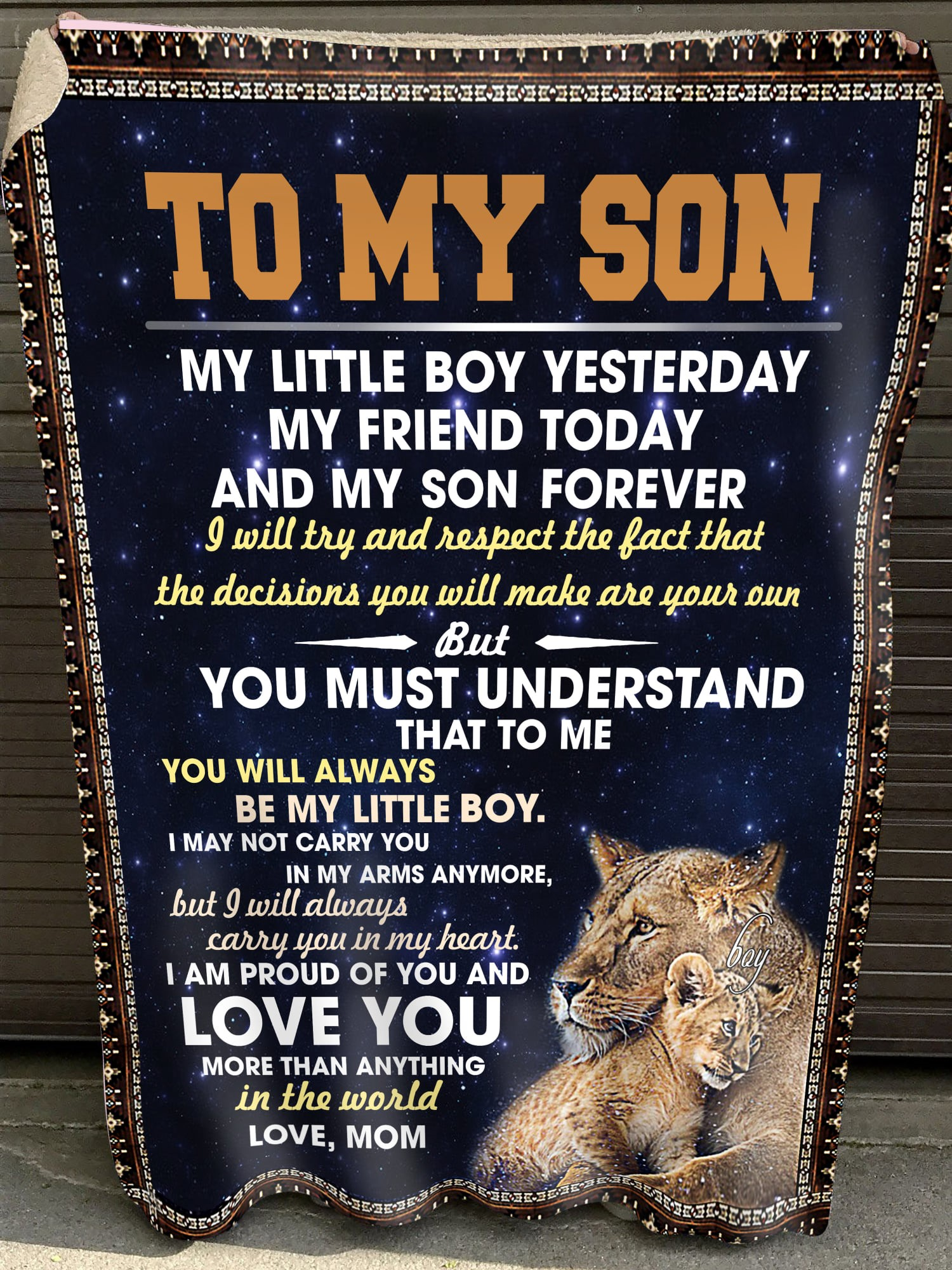 To My Son Love You