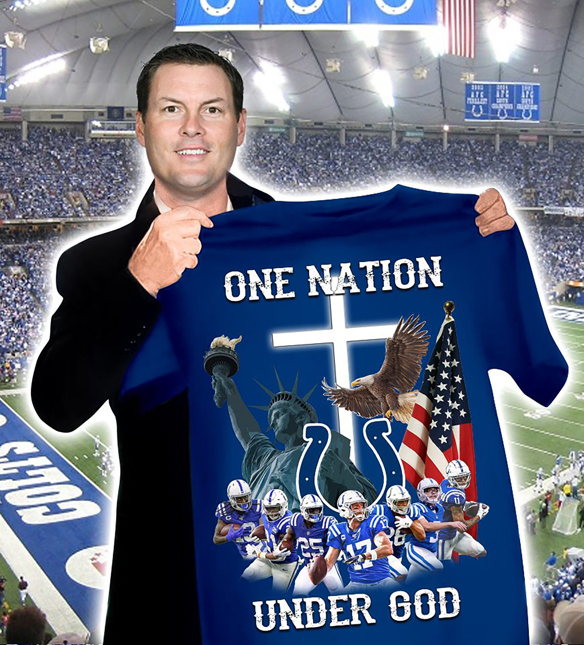 Indianapolis Colts Nfl One Nation Under God T-shirt