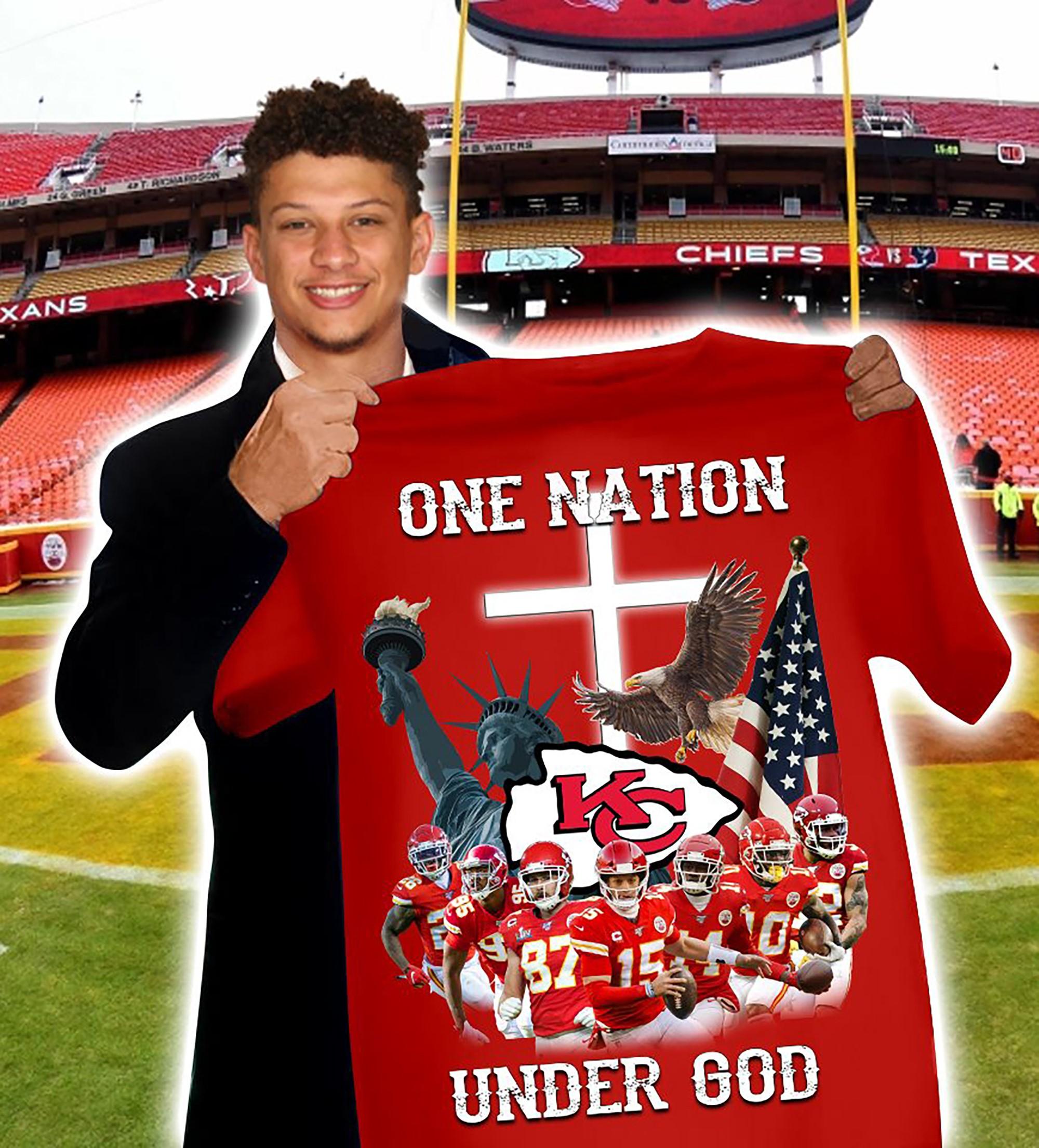 Kansas City Chiefs One Nation Under God T-shirt