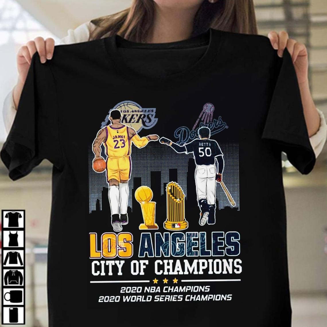 Lakers James And Dodgers Betts Los Angeles City Of Champions 2020 Nba Champions 2020 World Series Champions Shirt