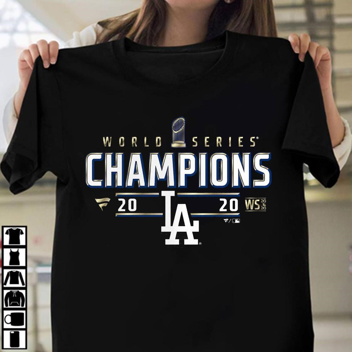Los Angeles Dodgers 2020 World Series Champions Locker Room T-shirt The Dodgers Are World Series Champs