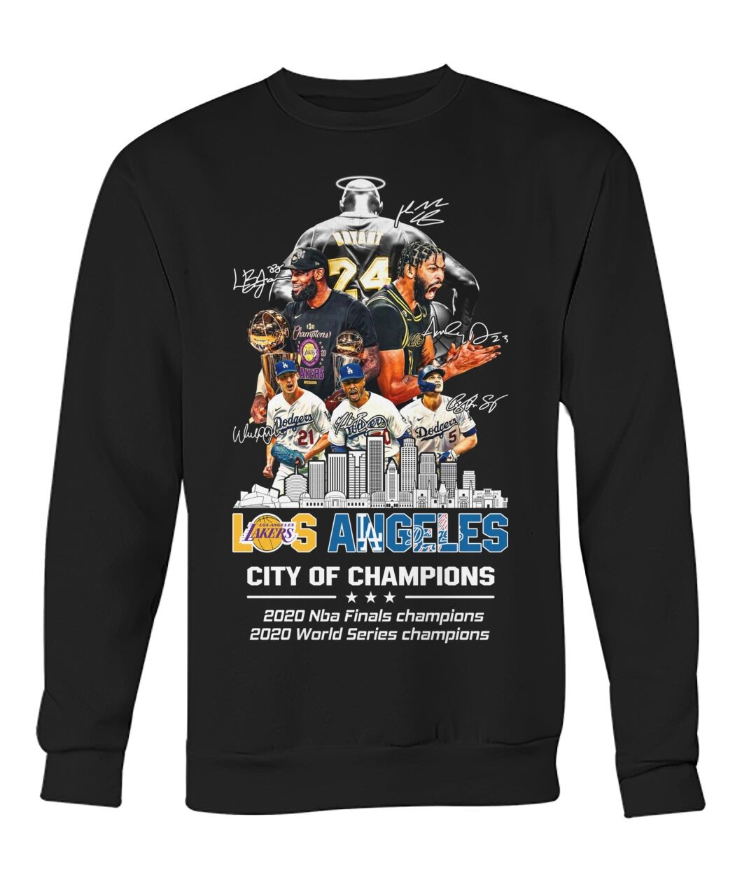 Los Angeles Lakers And Los Angeles Dodgers City Of Champion 2020 Sweatshirt