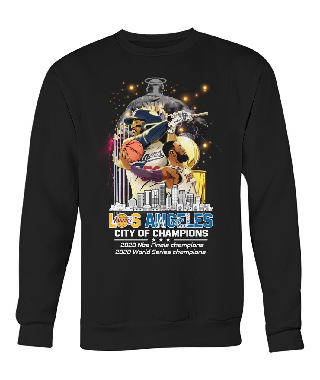 Los Angeles Lakers And Los Angeles Dodgers City Of Champion 2020 T-shirt
