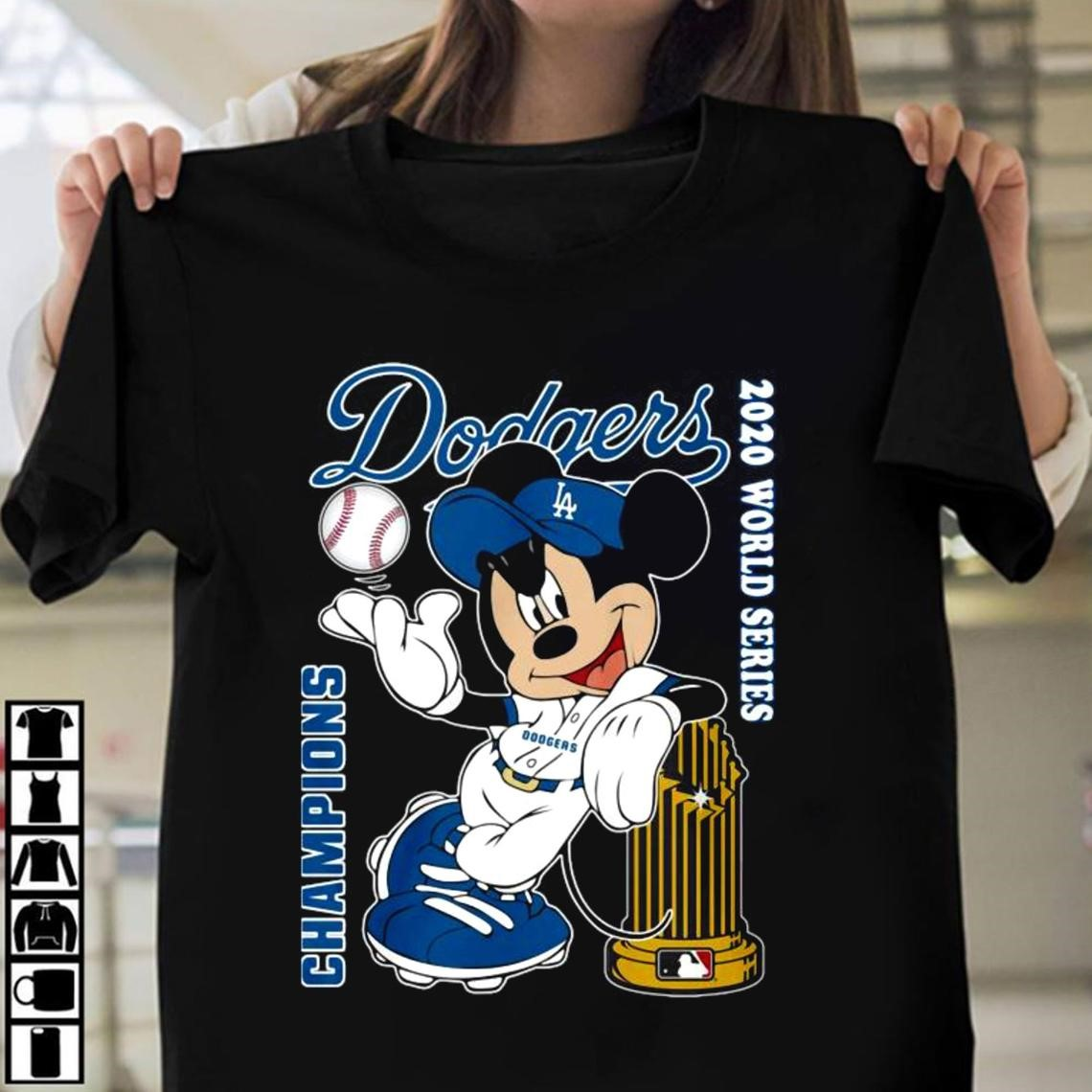 Mickey Mouse Los Angeles Dodgers Champions 2020 World Series Shirt La Dodgers Champions 2020 World Series