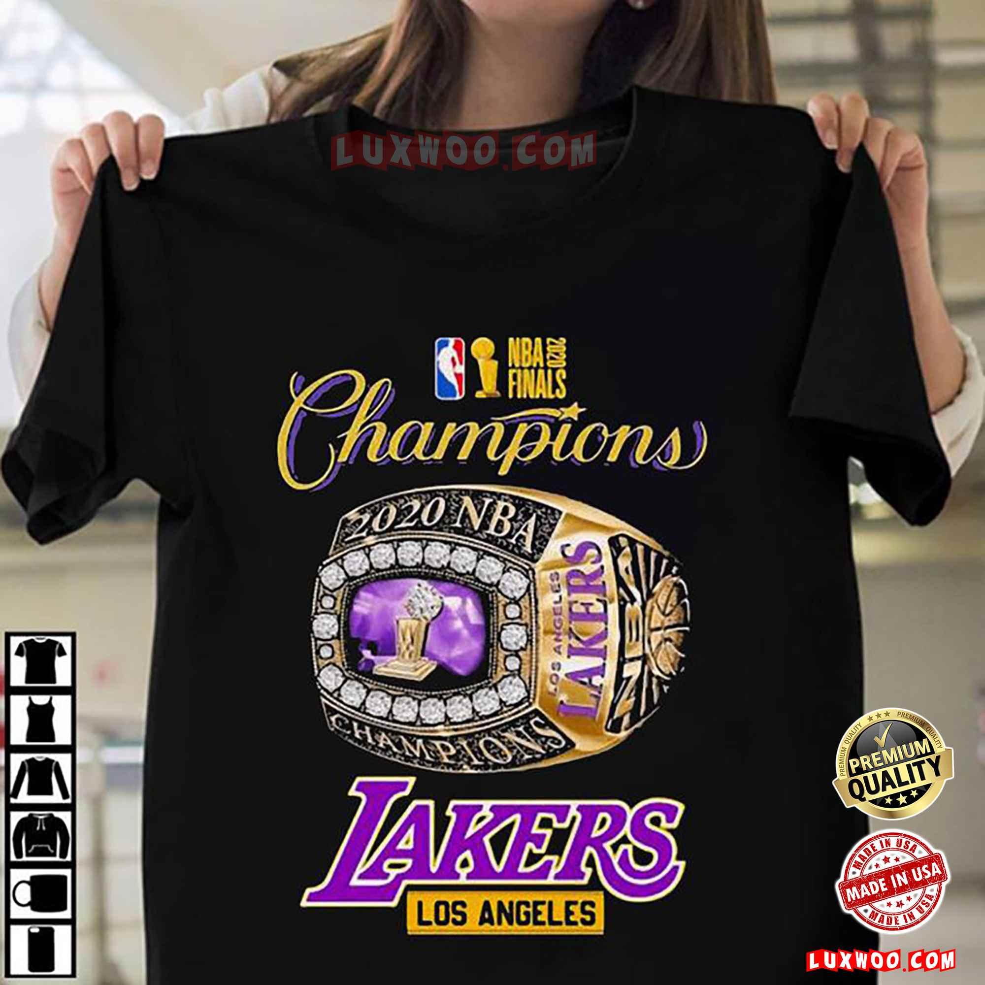 Nba Finals 2020 Champions Los Angeles Lakers Shirt La Lakers Championship Ring King Shirt