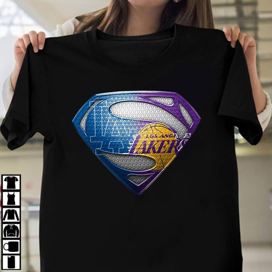 Superman Los Angeles Dodgers And Los Angeles Lakers Shirt