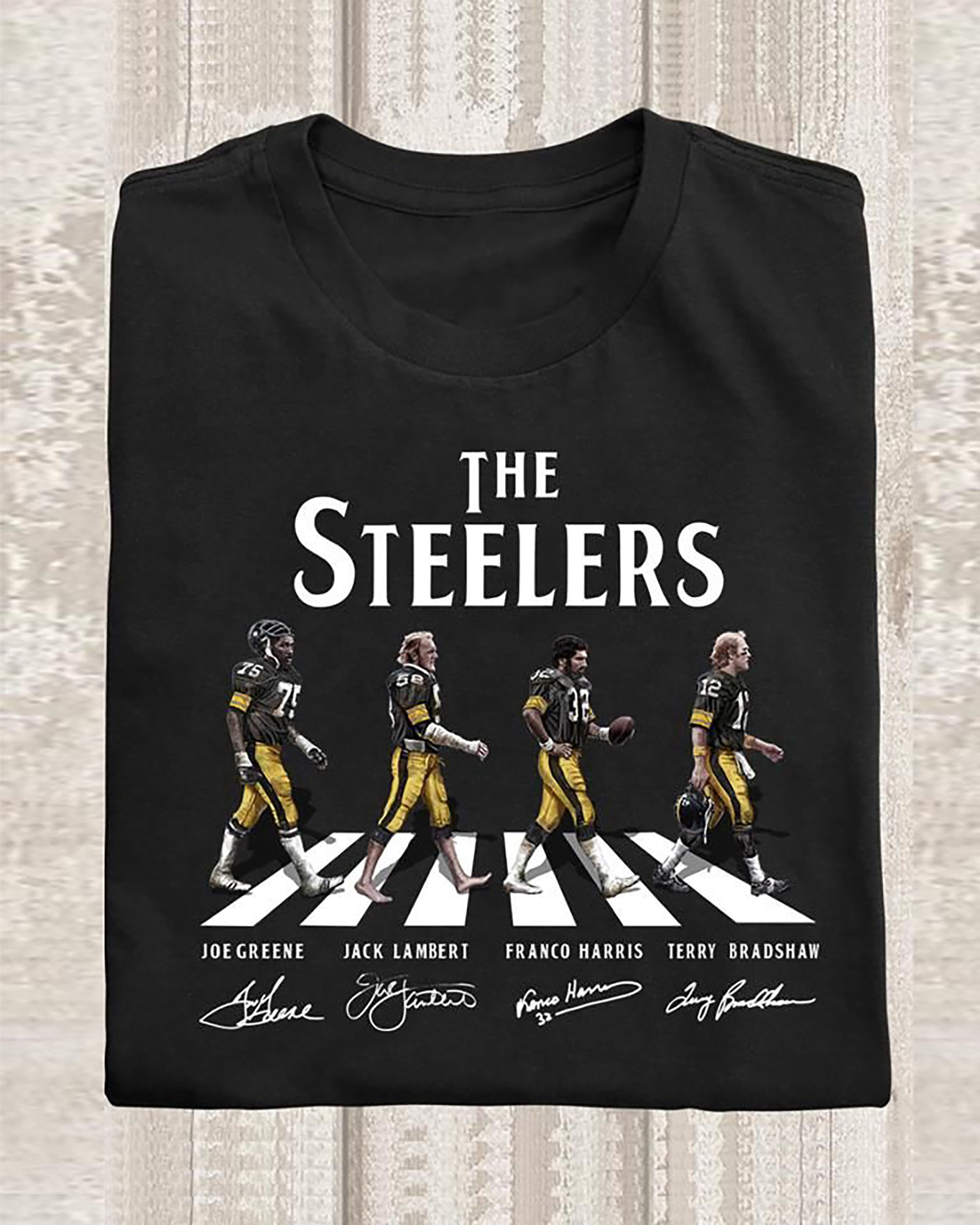 The Steelers Shirt Walking Abbey Road Signatures Shirt Steelers Gifts Pittsburgh Steelers Tshirt