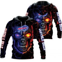 Buffalo Bills Skull Sport Hoodie Zip Hoodie
