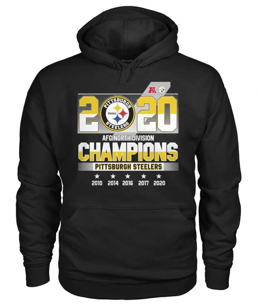 2020 Pittsburgh Steelers AFC North Division Champions Here We Go Hoodie