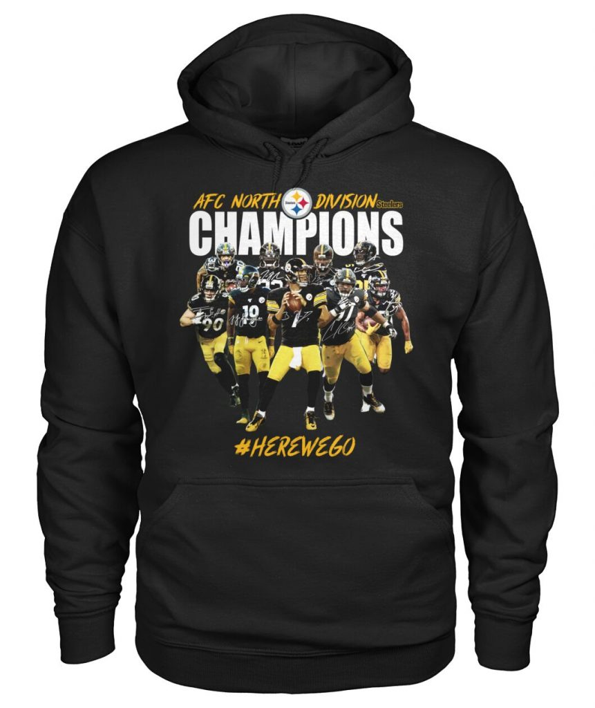 Pittsburgh Steelers AFC North Division Champions Here We Go Hoodie