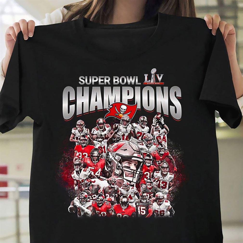 Super Bowl Lv Tampa Bay Buccaneers Champion Gift Fan T-shirt Buccaneers Super Bowl Lv Champions 2021 Football