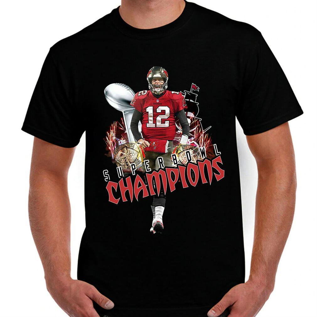 Tom Brady Tampa Bay Buccaneers Super Bowl Lv Champions 2021 T