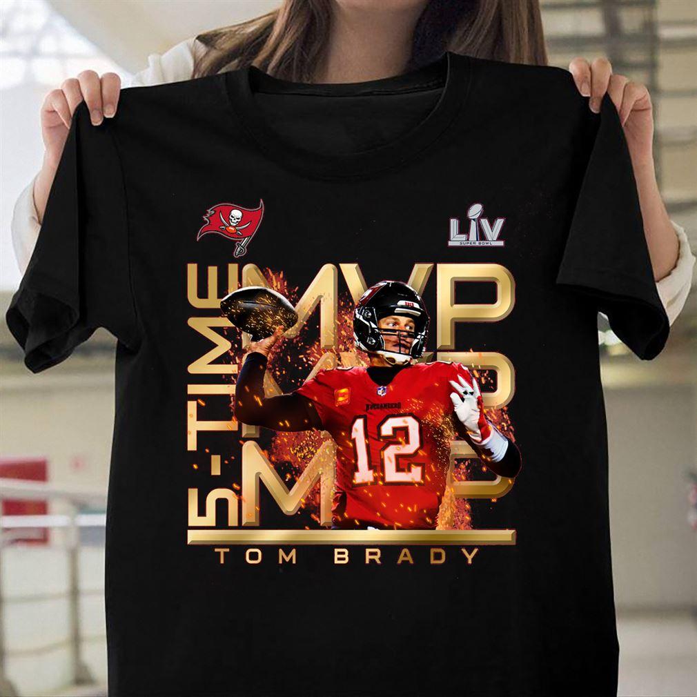 Tom Brady Tampa Bay Buccaneers Super Bowl Lv Champions Mvp T-shirt - Black