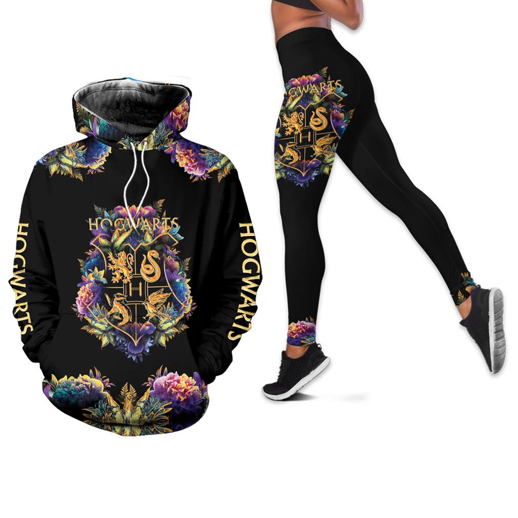 Hogwarts Girl Combo 3d Clothes Hoodie Legging Set